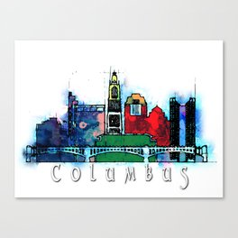 Colombus City Skyline Canvas Print