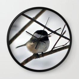 Chickadee Treat Wall Clock