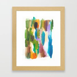 180812 Abstract Watercolour Expressionism 10   Colorful Abstract   Modern Watercolor Art Framed Art Print