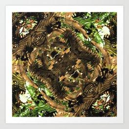 Artificial Tribal Jungle Print Art Print