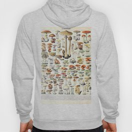Adolphe Millot - Champignons B - French vintage poster Hoody