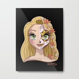 Sugar Skull Series: Long-Haired Princess Metal Print