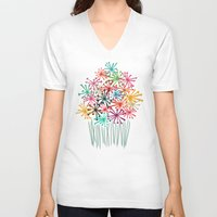 matisse V-neck T-shirts featuring Flower Bouquet by Picomodi
