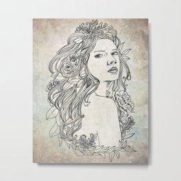 Elven Girl Metal Print