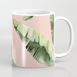 Banana Leaves 2 Green And Pink Coffee Mug