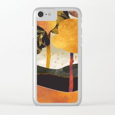 Metallic Forest Clear iPhone Case