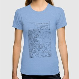 Black And White Vintage Map Of Africa T-shirt