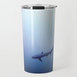 Thresher shark in the blue Travel Mug
