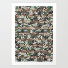 CUBOUFLAGE MULTI (LARGE) Art Print