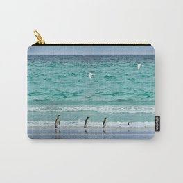Falkland Island Seascape with Penguins Carry-All Pouch