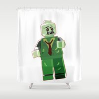 zombie Shower Curtains featuring Zombie by Emma Harckham