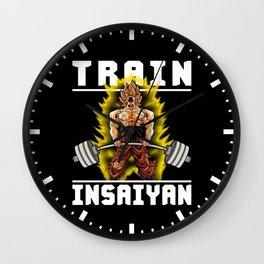 TRAIN INSAIYAN (Goku Deadlift) Wall Clock