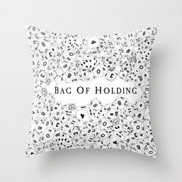 Bag Of Holding Throw Pillow