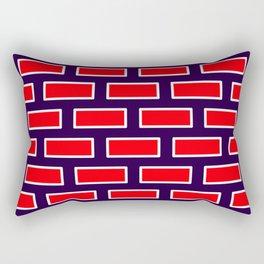Bricks Red White Purple Rectangular Pillow