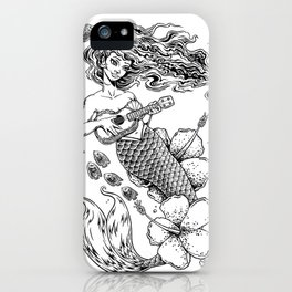 Ukulele Mermaid iPhone Case