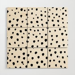 Dalmatian dots black Wood Wall Art