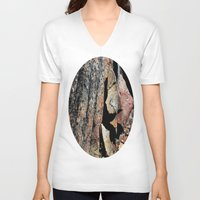 stone V-neck T-shirts featuring Stone by LilyMichael Photography
