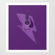 Electric - Acoustic Lightning Art Print