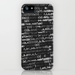 The Code (Black and White) iPhone Case