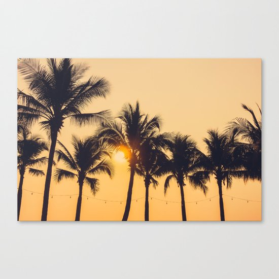 Good Vibes #society6 #palm trees Canvas Print
