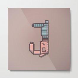 Alphabet Drop Caps Series- J Metal Print