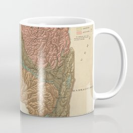 Vintage Geological Map of New York (1898) Coffee Mug