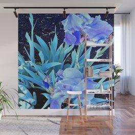 Blue Iris Wall Mural
