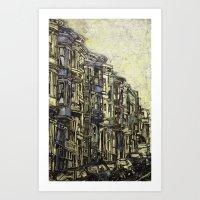 City in Daylight Art Print
