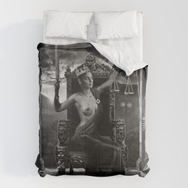 XI. Justice Tarot Card Illustration Comforters