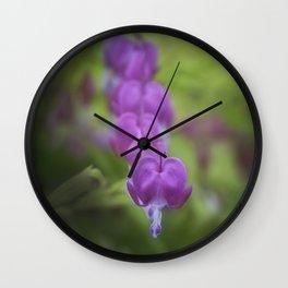 Bleeding heart flower Wall Clock