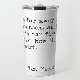 William Butler Yeats 3 Travel Mug