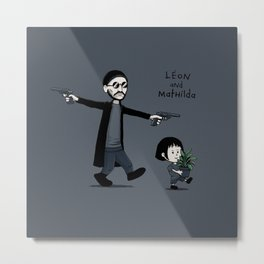 Leon and Mathilda Metal Print