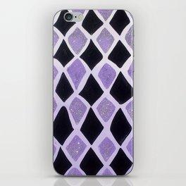 Purple and Black Diamonds iPhone Skin