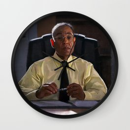 Gus Fring In The Office At Los Pollos Hermanos - Better Call Saul Wall Clock