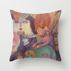 Secret Gathering Throw Pillow
