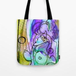 Abstract Nude Goddess No. 40C by Kathy Morton Stanion Tote Bag