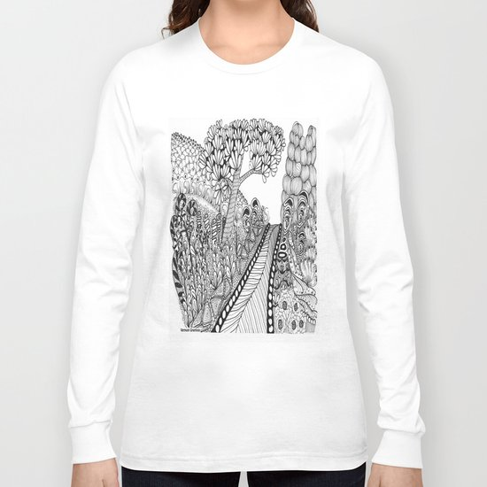 Zentangle Illustration - Road Trip Long Sleeve T-shirt