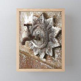 An old tap Framed Mini Art Print