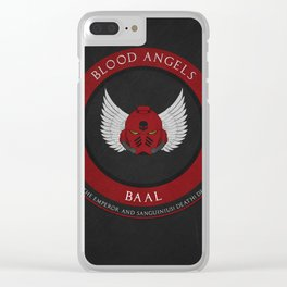 Blood Angels Style Clear iPhone Case