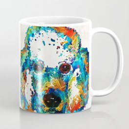 Colorful Poodle Dog Art by Sharon Cummings Coffee Mug