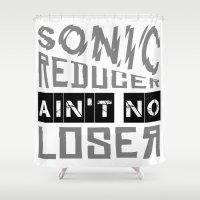 punk rock Shower Curtains featuring Sonic Reducer • Punk Rock Lyrics by Designerpunk