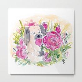 Rose Loves Roses Metal Print
