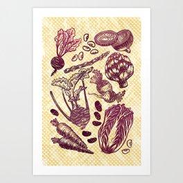 Eat Your Purple Veggies Art Print