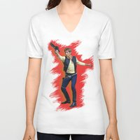 han solo V-neck T-shirts featuring Han Solo by Sindhu Tngm