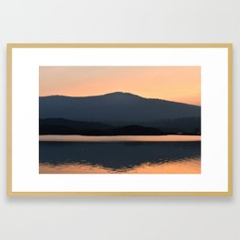 National Park Sunset Framed Art Print