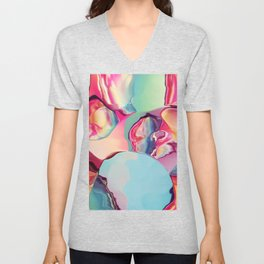 Cherry Boom Bubblegum Unisex V-Neck