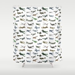Various WW2 Planes Shower Curtain