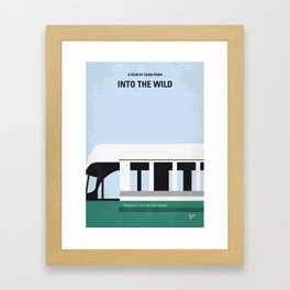 No677 My Into the Wild minimal movie poster Framed Art Print