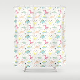 Dinosaur Pattern Shower Curtain
