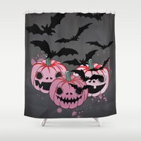 halloween Shower Curtains featuring Halloween by mark ashkenazi